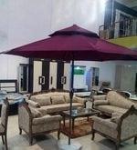 Outdoor Luxury Center Pole Umbrella in Maroon Colour