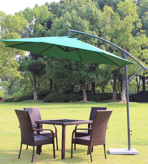 Charmant Luxury Side Pole Patio Umbrella In Green Colour By Adapt Affairs