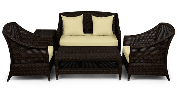 Buy Five Seater Outdoor Sofa Set With Center Amp Side Table