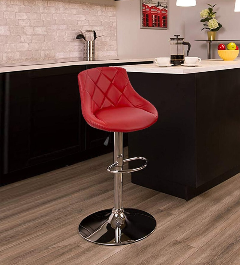Swell Oval Swivel Bar Chair With Adjustable Height In Red By Workspace Interio Download Free Architecture Designs Rallybritishbridgeorg