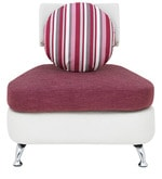 Oxford One Seater Sofa in Magenta Colour