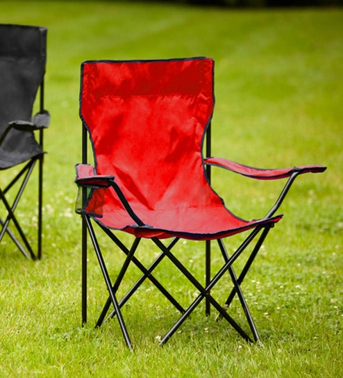 Fine Oxford Folding Patio Chair In Red Colour By Kawachi Pabps2019 Chair Design Images Pabps2019Com