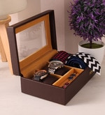 Pu Leather Brown Storage Organiser
