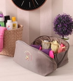 Nylon Beige Partition Innerwear Organiser Storage Bag
