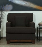 Parana One Seater Sofa in Chestnut Brown Color