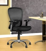 Paris Medium Back Ergonomic Chair in Black Colour