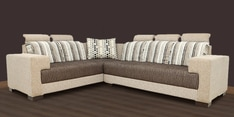 Pacific Corner Sectional Sofa in Designer Fabric Upholstery