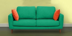 Panache Three Seater Sofa in Aqua Blue Colour