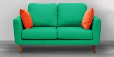 Panache Two Seater Sofa in Aqua Blue Colour