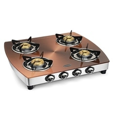 Padmini 4 Br Burners Automatic Gl Gas Stove Model No 4gt Kopper Auto
