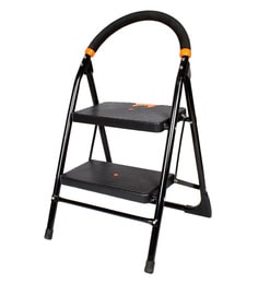 Paffy Milano Steel & Rubber 2 Steps 1.6 FT Wide Steps Folding Ladder