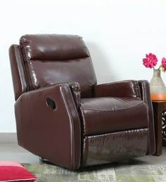 Panama One Seater Recliner with Rocker u0026 Swirl feature in Tan Leatherette  sc 1 st  Pepperfry & Recliner Sofas - Buy Recliners Online in India - Exclusive Designs ... islam-shia.org