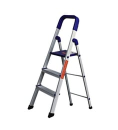 Parasnath Home Pro 3 Step 3.1 Ft Light Weight Aluminium Heavy Duty Folding Ladder