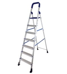 Parasnath Home Pro 7 Step 7.1 Ft Light Weight Aluminium Heavy Duty Folding Ladder
