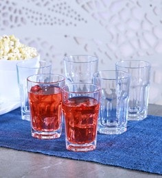 Pasabahce Casablanca Glass 290 ML Long Drink Tumblers - Set Of 12