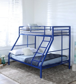 Buy Mia Twin Over Full Metal Bunk Bed By Steelfurn Online Standard Bunk Beds Bunk Beds Kids Furniture Pepperfry Product
