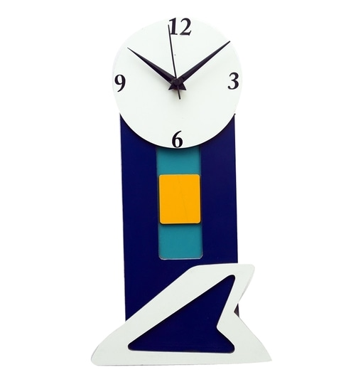 Panache Round Dial Long Wall Clock