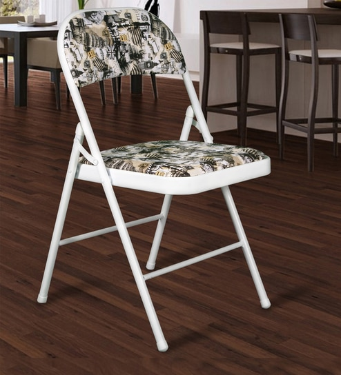 Strange Folding Chair In White And Black Colour By Story Home Download Free Architecture Designs Itiscsunscenecom