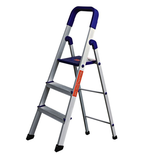 Buy 3 Steps 3.7 Ft Aluminium Step Ladder By Paffy Online