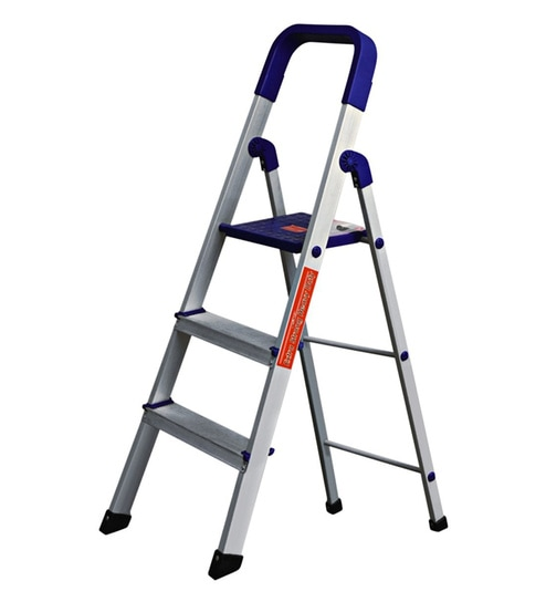 Paffy Home Pro PPCP & Aluminium 3 Steps 2.2 FT Folding Ladder