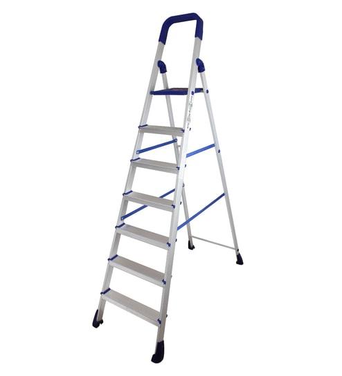 Paffy Home Pro PPCP & Aluminium 7 Steps 5.3 FT Folding Ladder