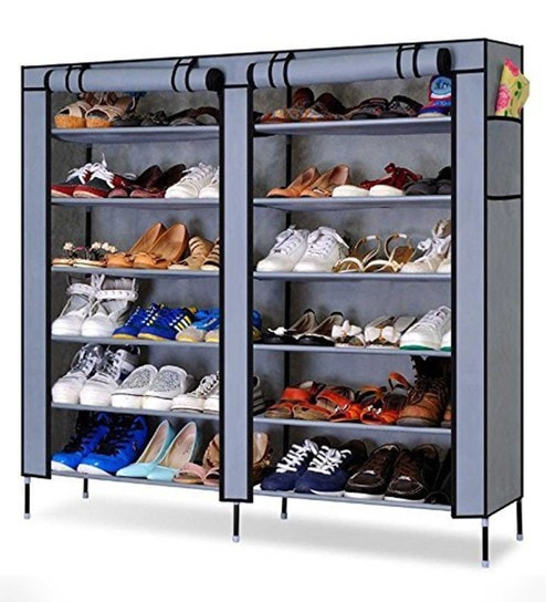 Alba Six Tier Twelve Shelves Shoe Rack in Blue Colour By Paffy  sc 1 st  Pepperfry & Buy Alba Six Tier Twelve Shelves Shoe Rack in Blue Colour By Paffy ...