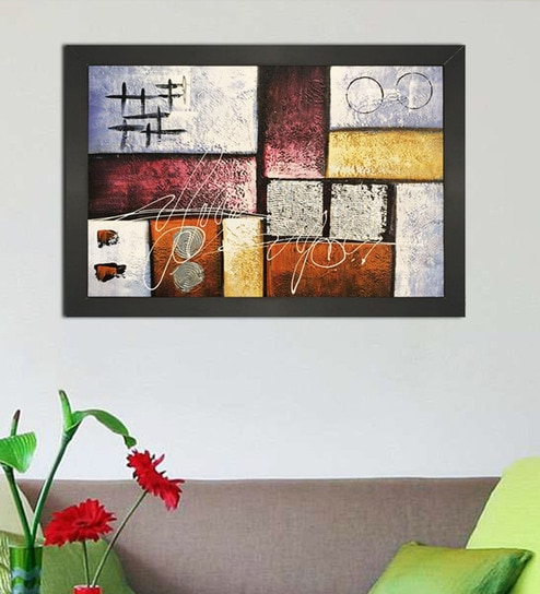 Buy Canvas 40 x 0.5 x 28 Inch Abstract Art Hand Framed Paintings by ...