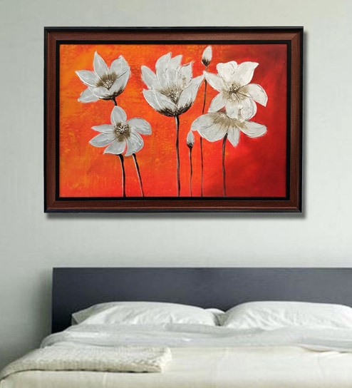 buy canvas 40 x 0 5 x 28 inch flowers hand framed paintings by