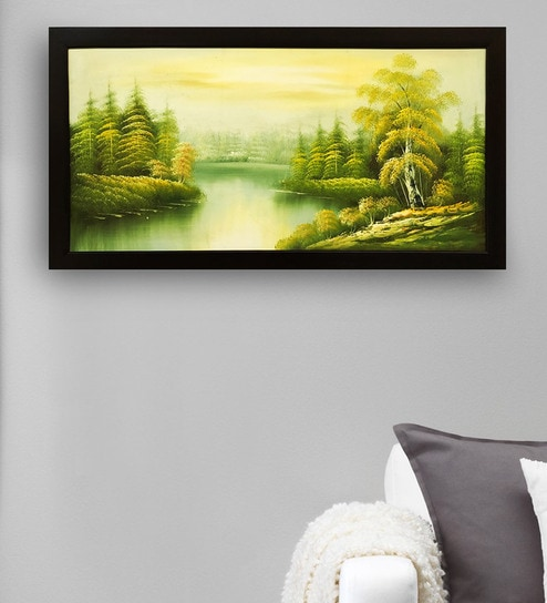 Buy Canvas 40 x 0.5 x 28 Inch Natural Scenery Hand Framed Paintings ...