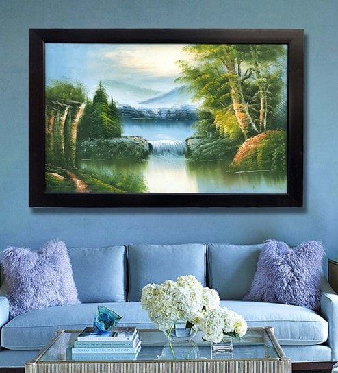 buy canvas 40 x 0 5 x 28 inch natural scenery hand framed paintings
