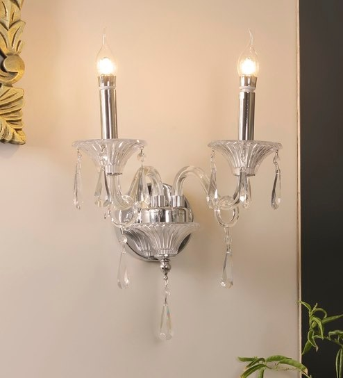 Paravel Crystal Double Wall Light by Jainsons Emporio