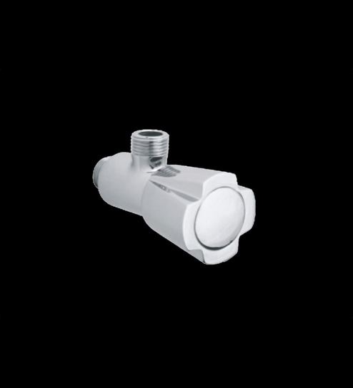 Parryware Diamond Silver Brass Angle Valve with Wall Flange