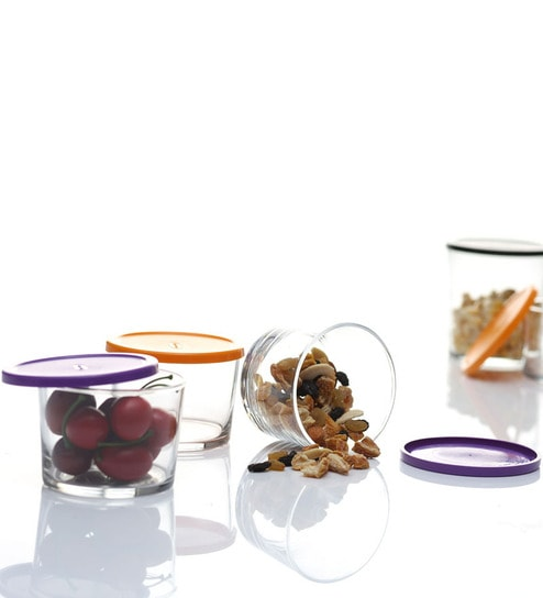 Pasabahce Bistro Easy Store 4 Pc Jar Set