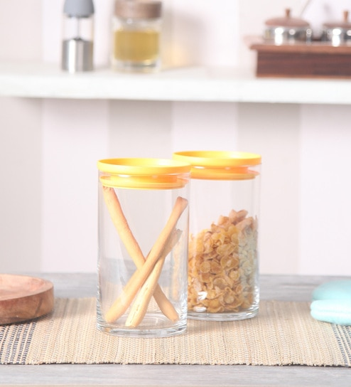 Pasabahce Breakfast Club Transparent Cylindrical 730 ML Storage Jar - Set of 2