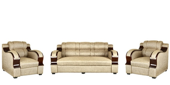Buy Panache (3 + 1 + 1) Seater Sofa Set In Beige Colour By RVF Online   Sofa  Sets   Sofas   Pepperfry