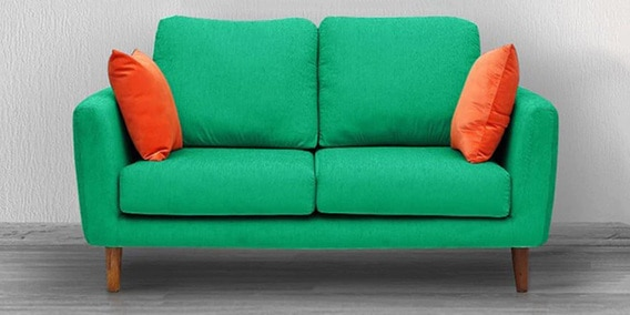 Buy Panache Two Seater Sofa With Cushions In Aqua Blue Colour By Vittoria  Online   Two Seater Sofas   Sofas   Furniture   Pepperfry Product