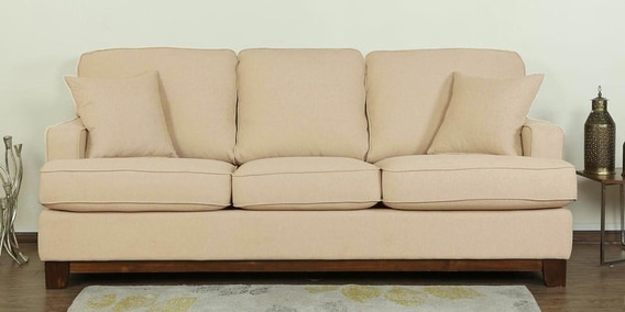 Buy Parana Three Seater Sofa In Beige Color By Casacraft Online