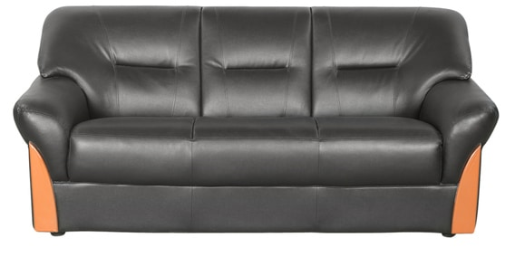 Buy Parto Three Seater Sofa In Black Colour By Godrej Interio Online Sofa Sets Sofas Pepperfry