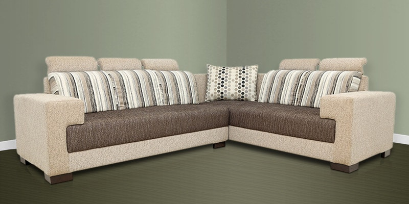 Buy pacific corner sectional sofa with lounger with fabric for Buy sectional sofa india