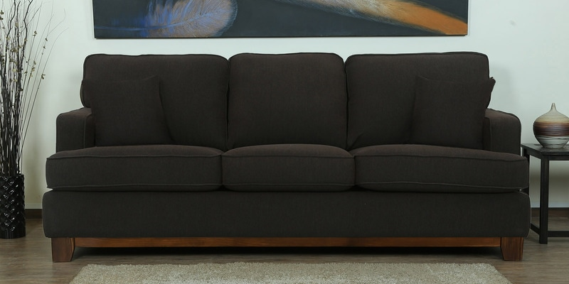 Buy Florianopolis Three Seater Sofa In Vanilla Colour By CasaCraft Online