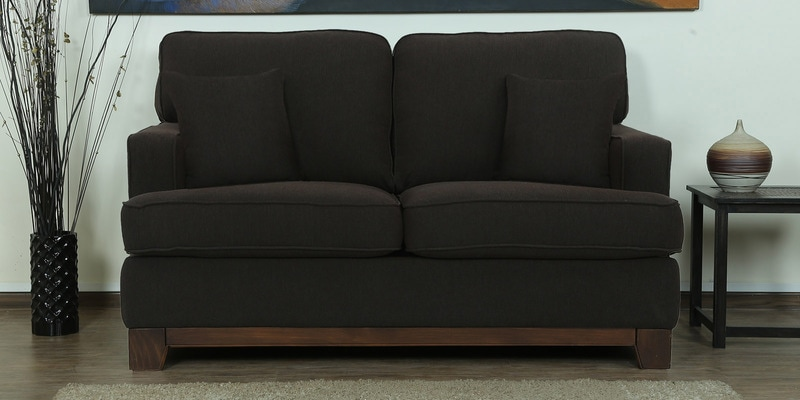 Parana Two Seater Sofa in Chestnut Brown Color by CasaCraft