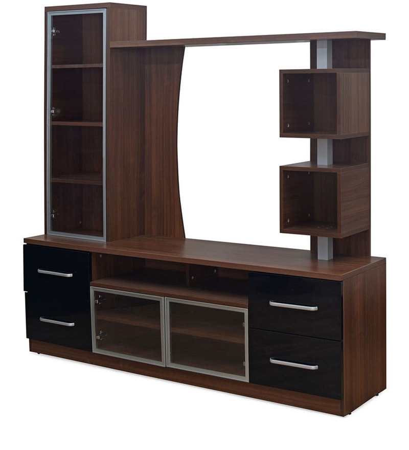 Buy Pacific Entertainment Unit In Dark Walnut Finish By
