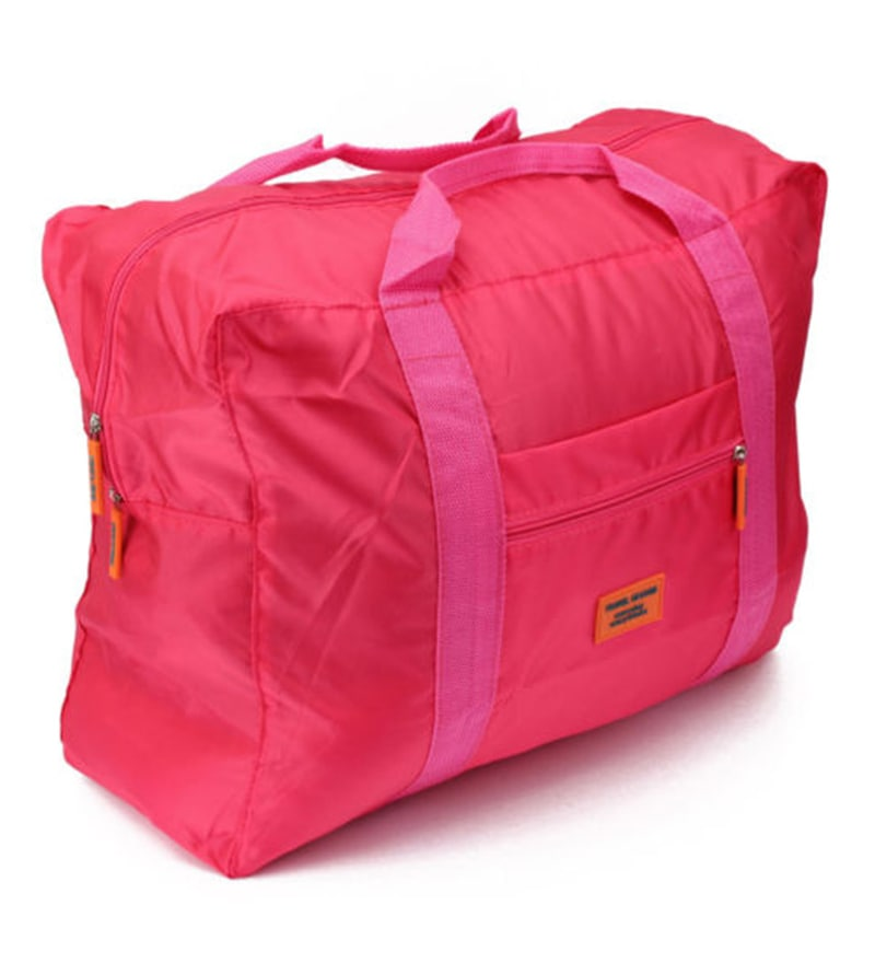 PackNBUY Big Foldable Fabric Pink Carry on Bag