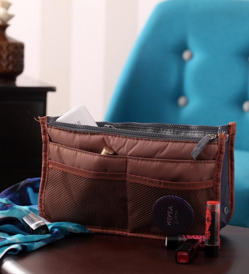 Packnbuy Nylon Brown Purse Switcher Handbag Organiser