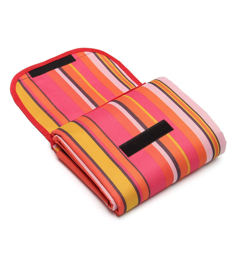 PackNBUY Waterproof Foldable Fabric Pink Picnic & Beach Mat