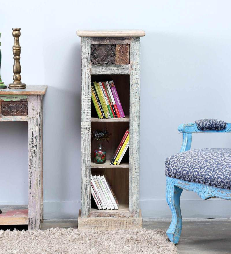 Zack Book Shelf in Distress Finish by Bohemiana
