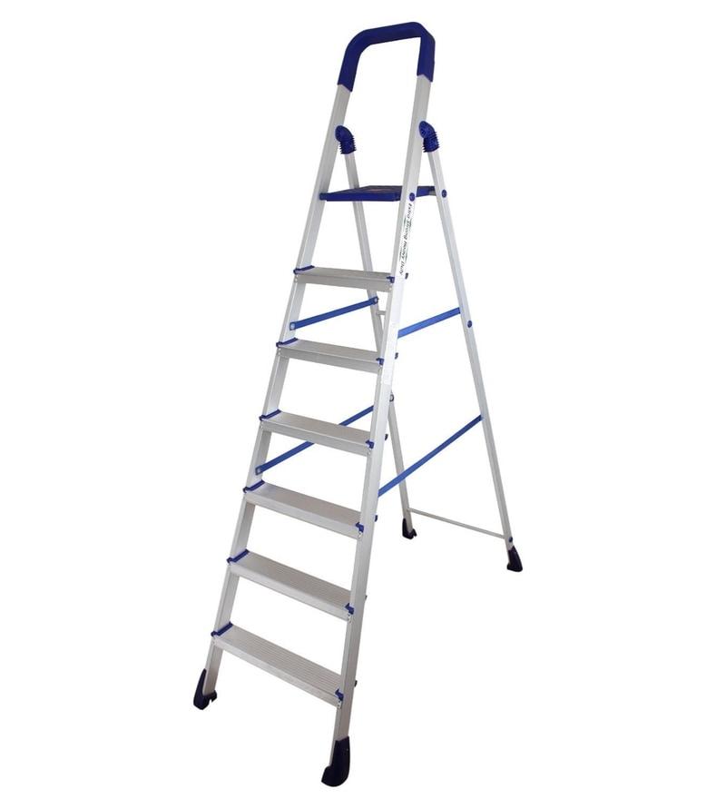 Parasnath Home Pro 7 Step 7.1 Ft Light Weight Aluminium Heavy Duty Folding Ladder
