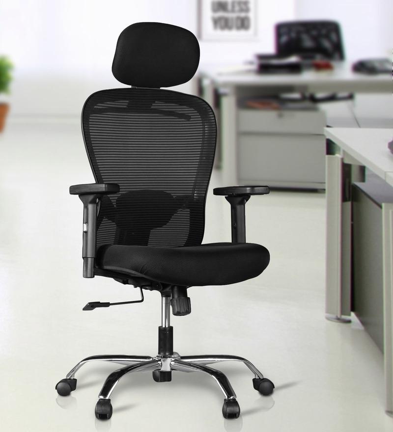 Paris High Back Chair in Black Colour by HomeTown
