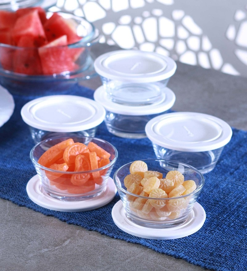 Pasabahce City Glass 220 ML Bowls - Set of 6