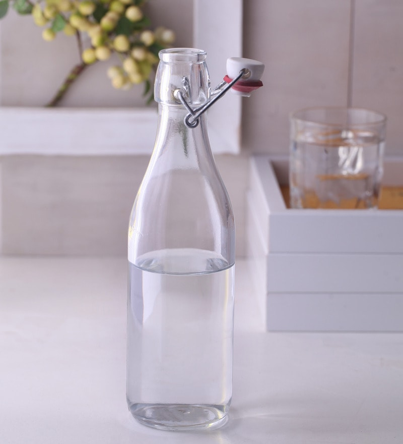 Pasabahce Glass 500 ML Bottles with Cover - Set of 3